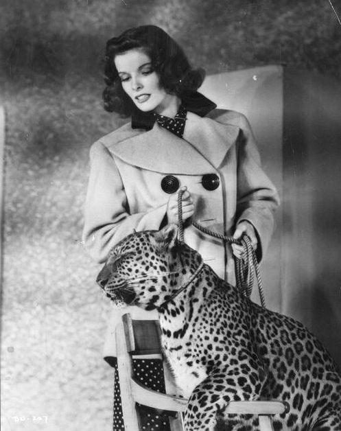 This week marks the 75th anniversary of the release of Katharine Hepburn's funniest comedy, BRINGING UP BABY (1938) - directed by Howard Hawks and co-starring Cary Grant and a leopard.