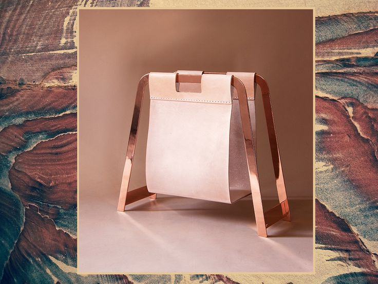 The Copper Book Bag in Natural Veg Leather.