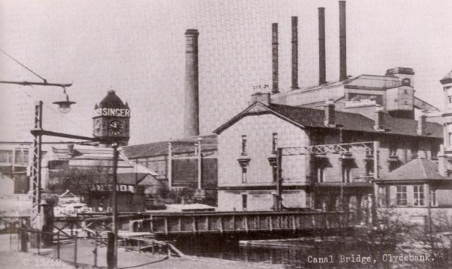 Singer's Clock (Pre-War, World's Largest) Clydebank.