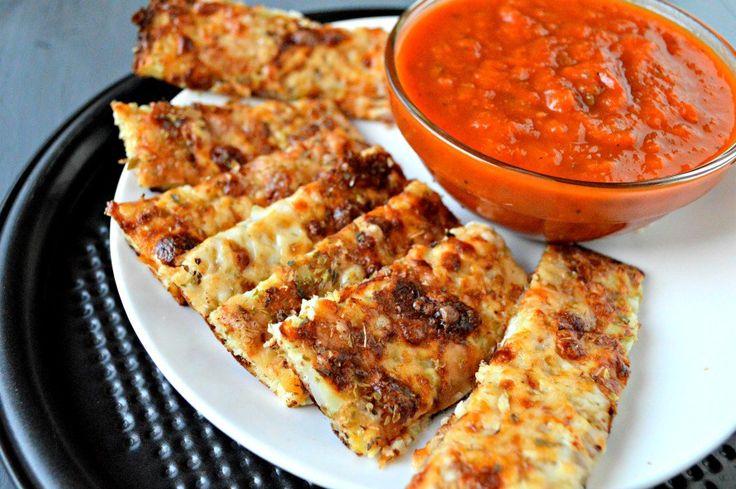 Cheesy Cauliflower Breadsticks recipe - a yummy way to get sneak cauliflower…