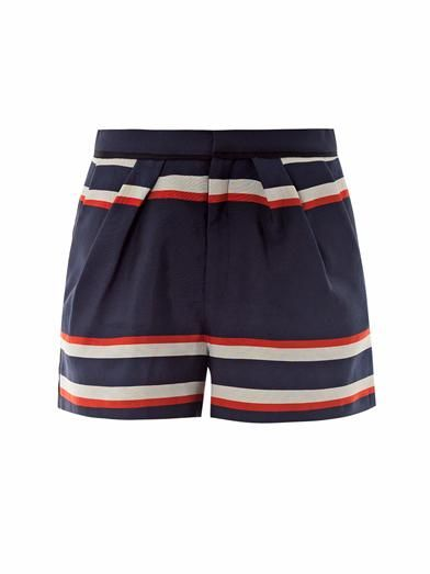 Sea NY's #nautical striped shorts make for a perfectly patriotic ensemble this #4thofJuly.  Click to discover more ways to wear red, white and blue.