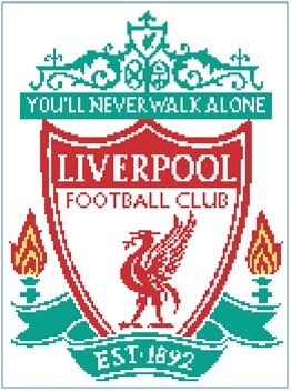 EASY PATTERNS: Liverpool FC cross-stitch pattern- hopefully I will actually make this one for Mark!