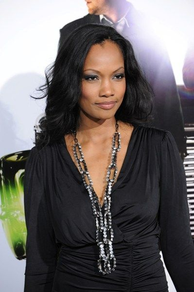 Garcelle Beauvais long, wavy hairstyle