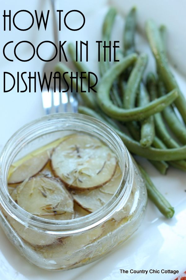 How to cook in the dishwasher -- yes you can actually COOK in the dishwasher when you run a load of dishes.  See how here!  Amazing!  I never knew this!