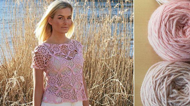 Vackert och skönt – Virka sommarens svalaste linne!