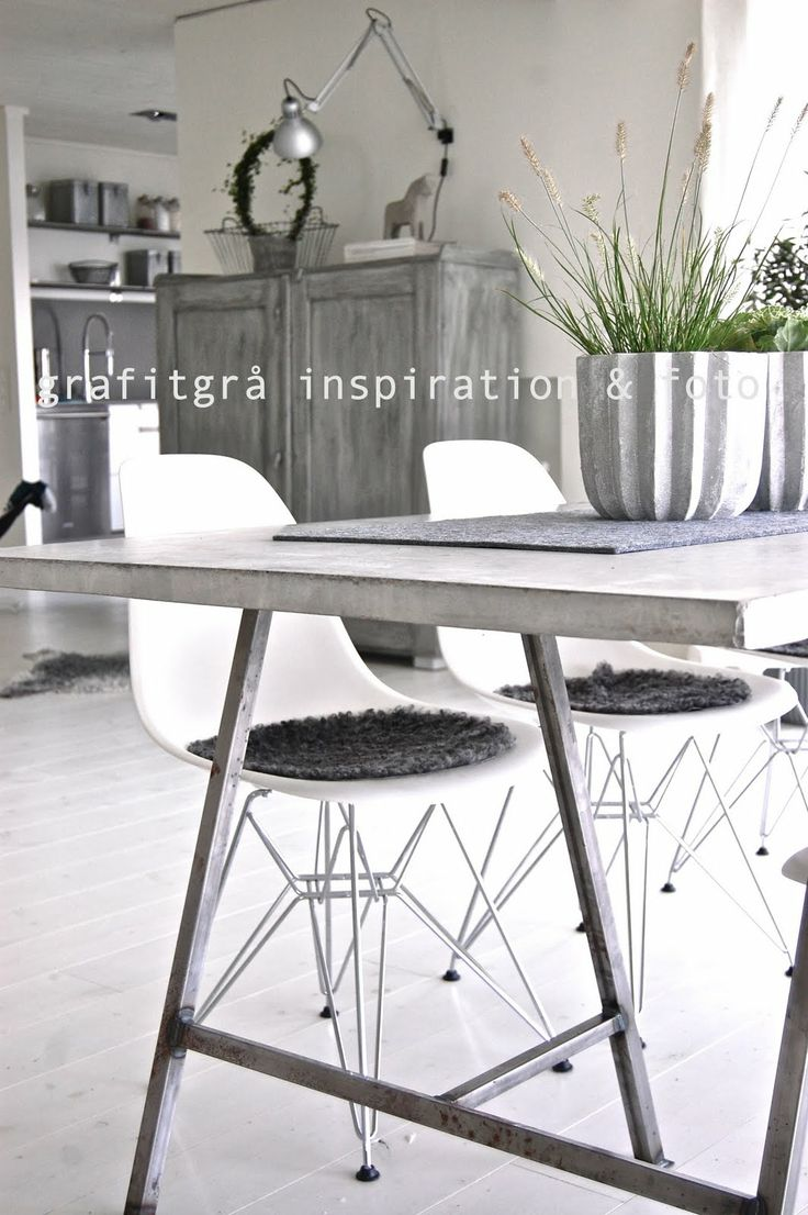 Grafitgrå: Betongbord
