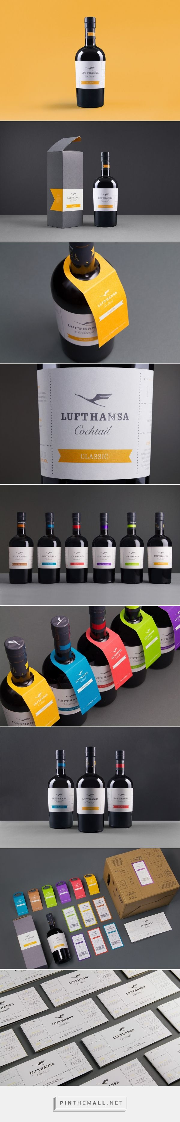Lufthansa Cocktail - Packaging of the World - Creative Package Design Gallery - http://www.packagingoftheworld.com/2017/01/lufthansa-cocktail.html