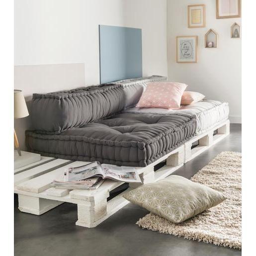Idée futon palette chambre Dossier de banquette modulable - La foir'fouille - 95 x 20 x H 30 cm