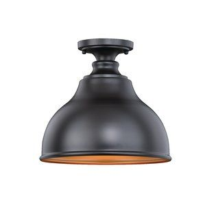 Lavardin 1-Light Outdoor Semi Flush Mount