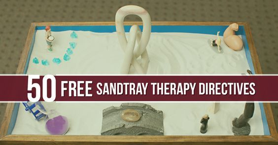 50 FREE sandtray therapy directives for different ages and type of client