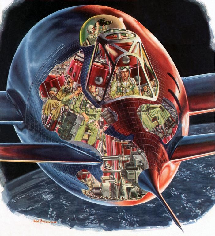 Vintage Sci Fi Illustrations Retro Science Fiction: 17 Best Images About Cross-sections On Pinterest