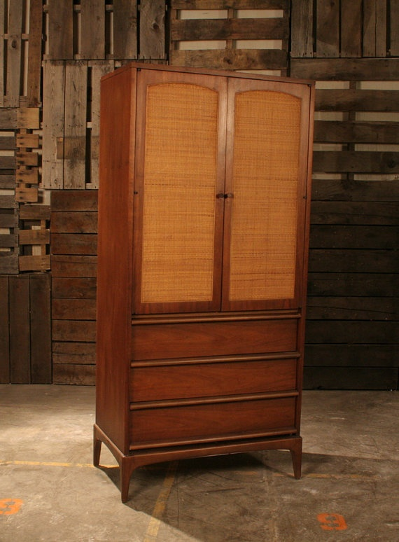 mid century modern tall dresser armoire by blockheadfurnishings there 39 s no place like. Black Bedroom Furniture Sets. Home Design Ideas