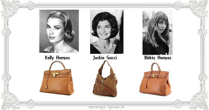 Grace Kelly - Jackie O - Jane Birkin - icones - muses des sacs à main les plus célèbres de Gucci - Hermès