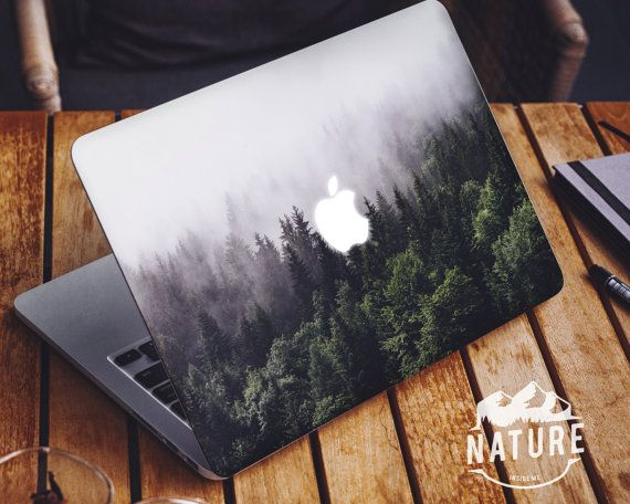 Nature Macbook Decal, Macbook Peel And Stick Decal , Macbook Removable Sticker, Macbook Air Removable Skin, Macbook Cover Decal - N001