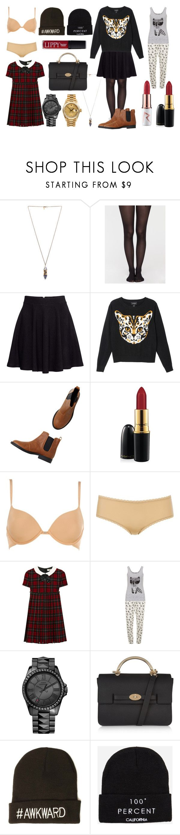"""""""Cravings"""" by blogbyfifi ❤ liked on Polyvore featuring Pamela Love, H&M, Monki, MAC Cosmetics, Calvin Klein Underwear, Yves Saint Laurent, Dorothy Perkins, Juicy Couture, Rolex and Mulberry"""