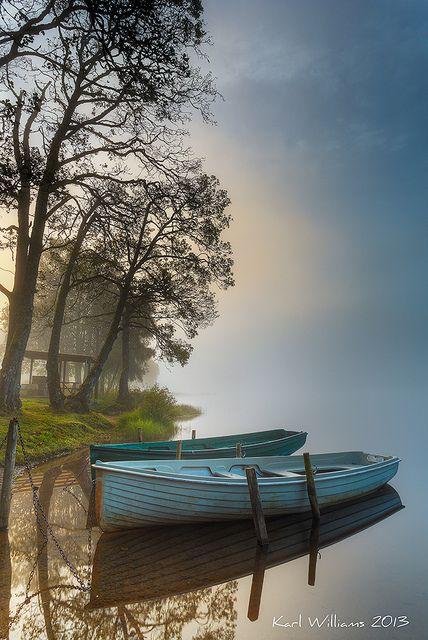 Achray Boats, Loch Achray, Trosssachs, Scotland by Karl Williams
