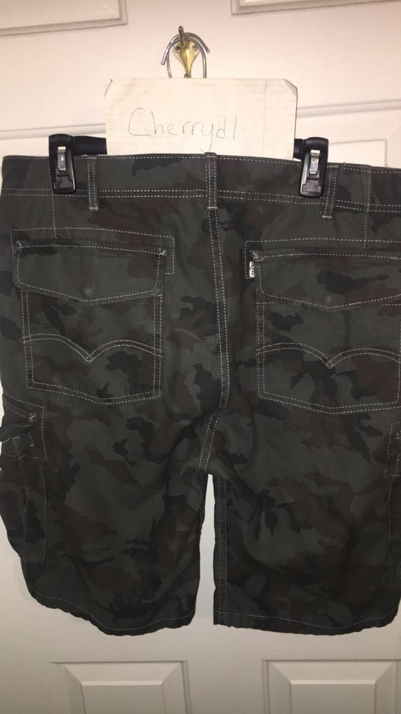 a3d2df8f7e EUC $56 Levi's Camo Cargo Shorts 36 Blue Green Snap Tab Virgil Zara 34 32  38 40 #fashion #clothing #shoes #accessories #mensclothing #shorts (ebay  link)
