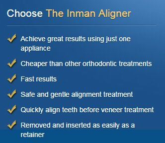 Why choose the Inman Aligner?  Use our Find a Dentistsearch engine to find a certified dentist near you! www.inmanaligner.com