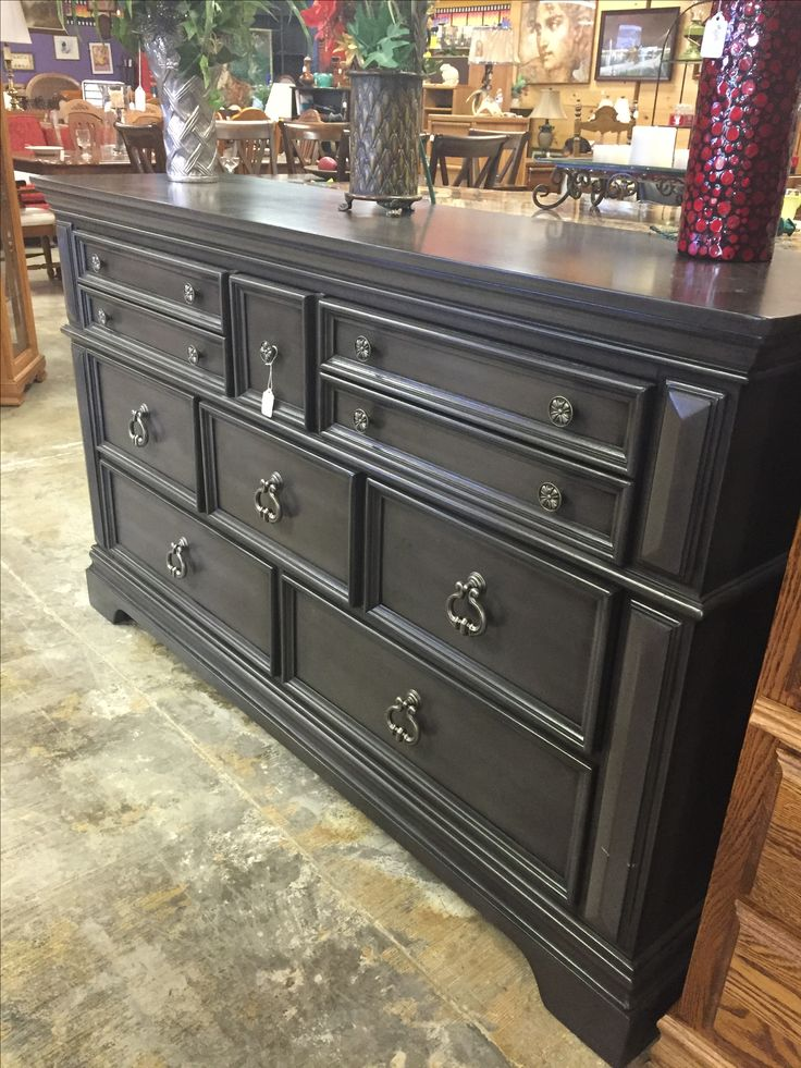 Brand new gray eight drawer dresser ($335) and matching night stand for only $25 with purchase of dresser. -Night stand has minor damages. #bedroom #forsale #mk #consignment #furniture #sale #deals #cheap #gray #style #fancy #new #dresser #nightstand #home #house #apartment #homedecor #homedesign #design #decor #designer