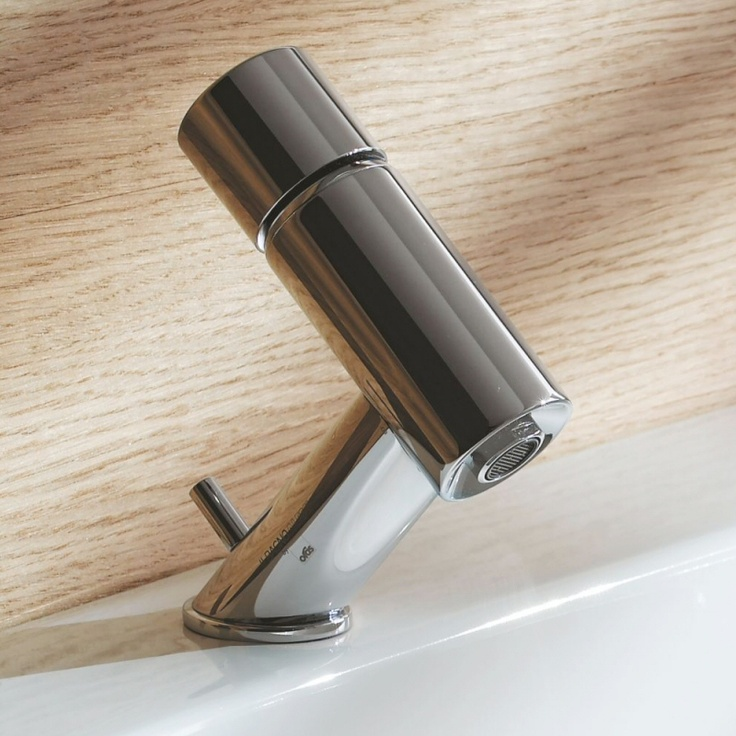 With a distinctly futuristic look, the Il Bagno Alessi One Washbasin Tap by Laufen is so unique!