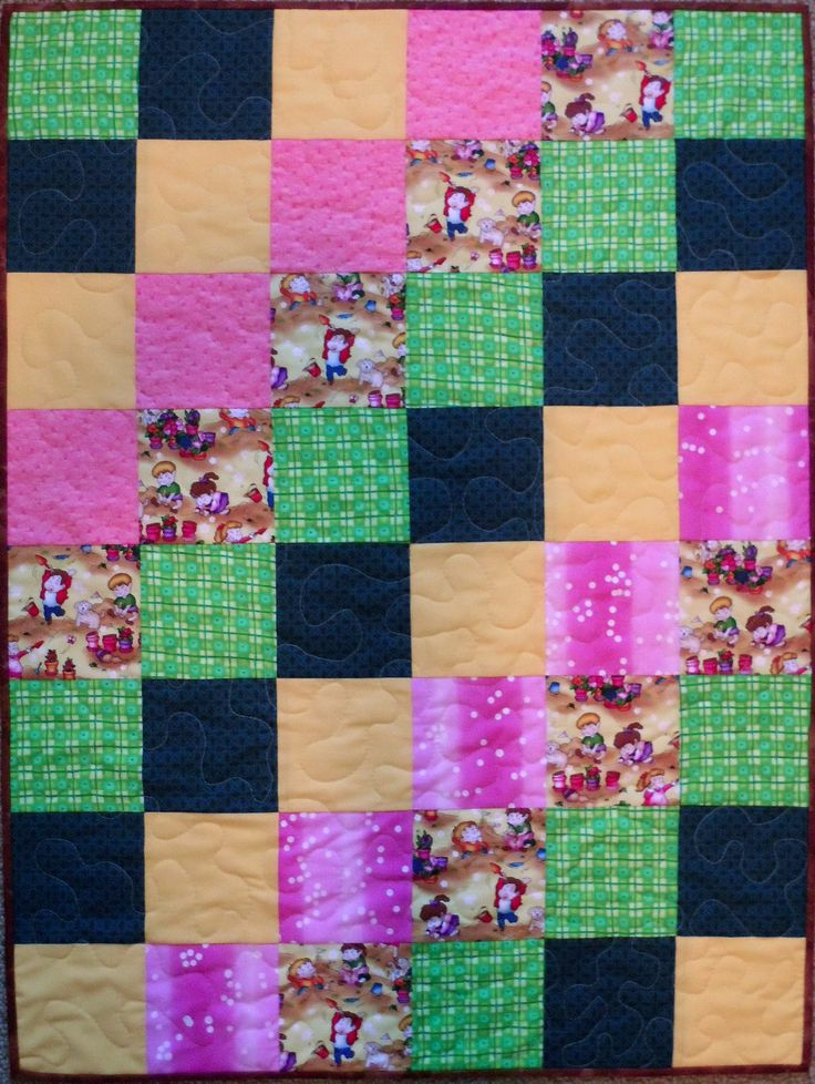 Children at Play Quilted Baby Quilt
