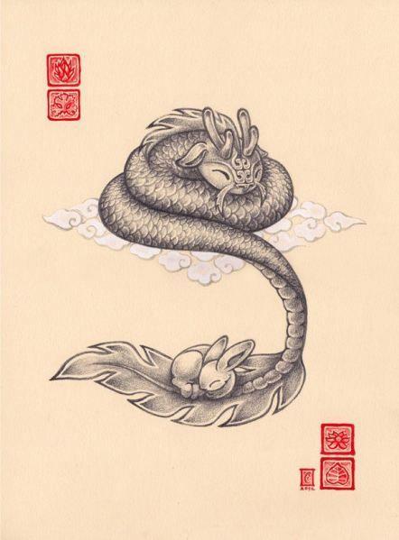 dragon and bunny