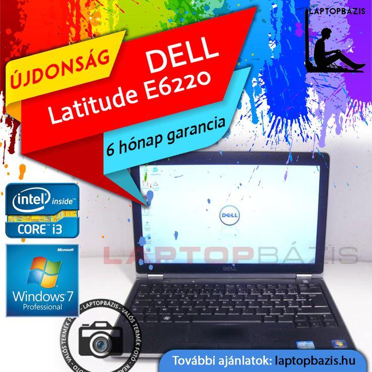 "Dell Latitude E6220 laptop, Intel Core i3-2330M, 320 GB HDD, 4 GB DDR3, webkamera, 12,5"" HD LED kijelző, Új akkumulátor  Ár: 48 900.- Ft"