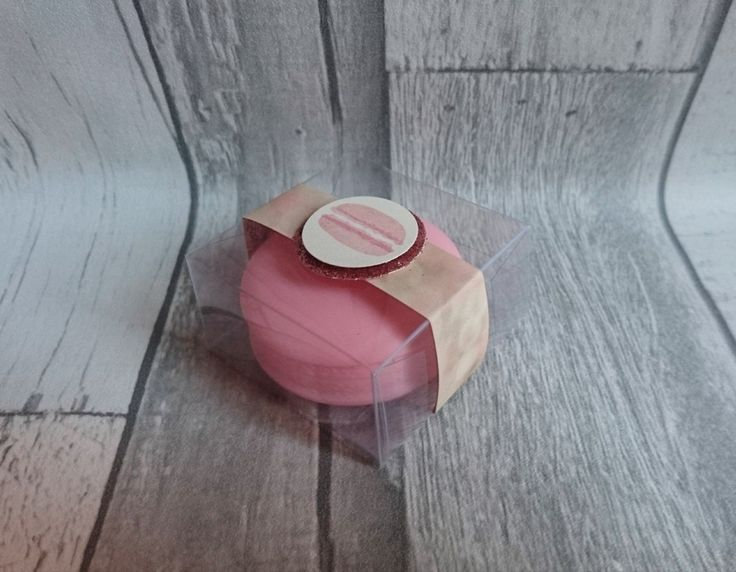 Hello everyone I hope you are all well? This week's design team project is a cute little box that holds a Macaron lip balm. So I made the box out of acetate (window sheet) and added a Belly b…