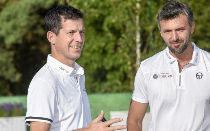Henman and Ivanisevic at this year's tournament