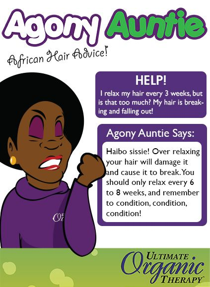 Never ever over-relax your hair - it causes damage!    More tips: https://www.facebook.com/UltimateOrganics