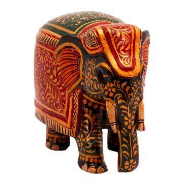 """Utsav Kraft Fine Miniature Full Body Work Elephant - 3"""""""