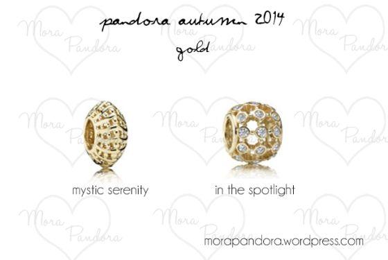 Pandora Autumn 2014 - Gold charms.