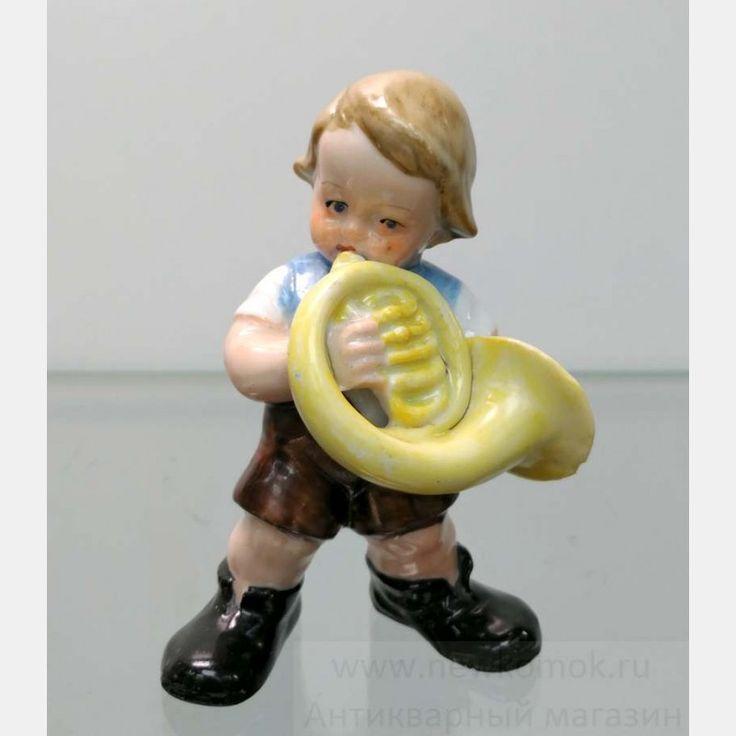 "Фарфоровая статуэтка ""Маленький трубач"". HEINZ & Co. Germany. 1950 - 1960 гг.."