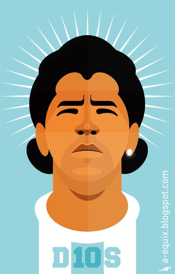 Maradona - Illustration