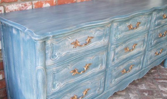 Blue French Provincial Dresser by MaryBethsPlace on Etsy
