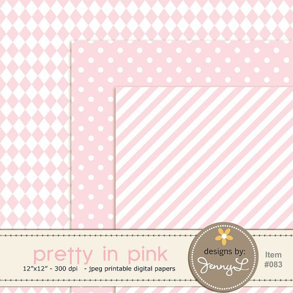 Pink Light Pink Pastel Pink Digital Papers Pink Chevron