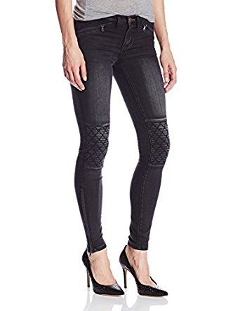 quilted knee jeans for women 2016 | Dittos Women's Tyra Moto Super Skinny Jean In Throttle, Throttle, 25 ...