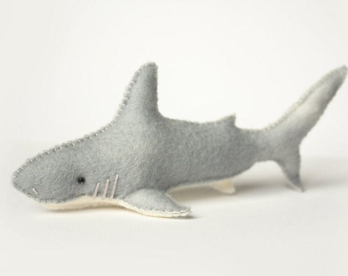 Felt shark sewing pattern for felt animals. Handmade shark toy.  Browse unique items from LoriDesignsOnline on Etsy, a global marketplace of handmade, vintage and creative goods.