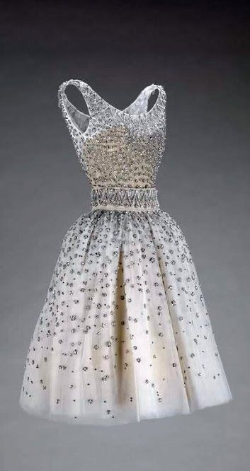 Dior Dress - SS 1958 - House of Dior  (French, founded 1947) - Design by  Yves Saint Laurent (French, 1936-2008)...