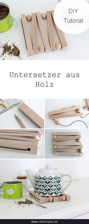 DIY Anleitung: Untersetzer aus Holz bauen