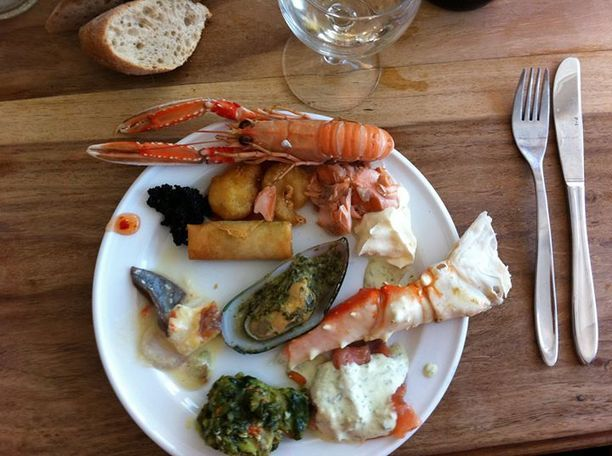 Jacobs Fiskerestaurant Sæby, Sæby, Denmark — by Bettina Arknaes. Delicious fresh fish buffet - it's a very popular restaurant. You need to make reservation to get a table....