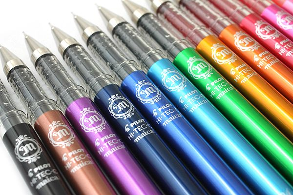 Pilot Hi-Tec-C Maica Gel Ink Pen - 0.3 mm - 12 Color Set When you're not busy gazing at your pretty pen, you will enjoy the water-based gel ink and the fine tip that is specially designed to ensure smooth writing.