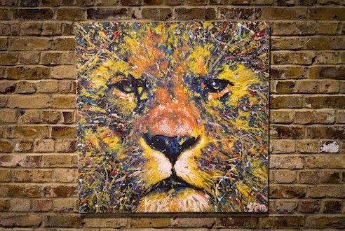 LION (multi color edition)サイズ S15 652mm×652mmウッドパネル作品原画スプレーアート作品こちらの作品はモダ...|ハンドメイド、手作り、手仕事品の通販・販売・購入ならCreema。