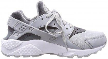 Women s Nike Air Huarache Run Low-Top Sneakers Grey (Wolf Grey cool  Grey-black) d213d14c6