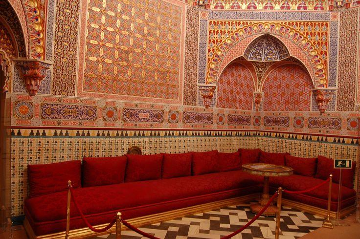 gabinete arabe o salón de fumar.  palacio de aranjuez