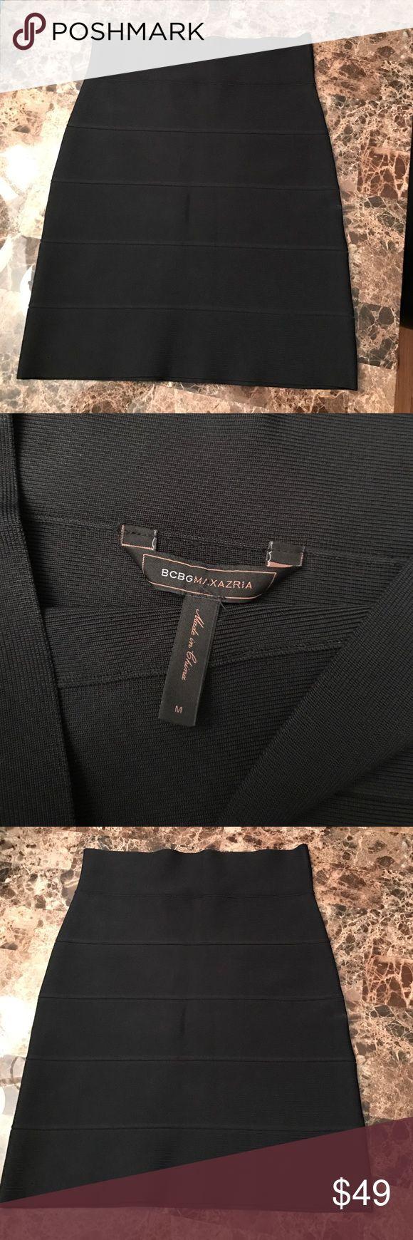 BCBG BANDAGE SKIRT NEW MEDIUM New. Tags removed. Black bandage skirt. 18.5 inches. BCBGMaxAzria Skirts Mini