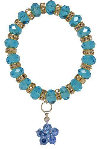 Turquoise Flower Crystal Bubble Bracelet Jouel. Save 73 Off!. $7.99