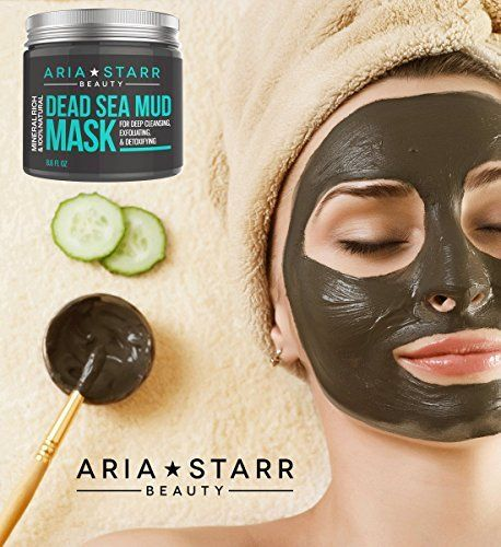 Aria Starr Beauty Dead Sea Mud Mask For Face, Acne, Oily Skin & Blackheads - Best Facial Pore Minimizer, Reducer & Pores Cleanser Treatment - 100% Natural For Younger Lookin...