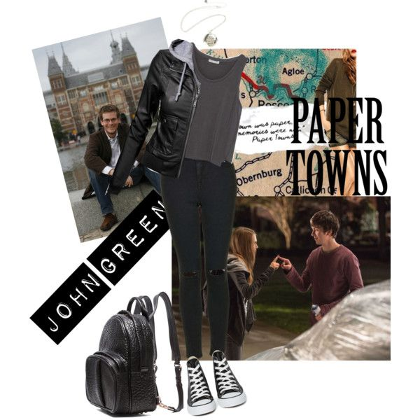 Paper towns <3 by elif-eylul on Polyvore featuring moda, Zara, Topshop, Converse and Alexander Wang