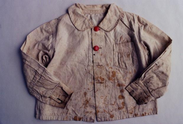 A blouse from the Hiroshima Peace Memorial Museum. Photo by Ishiuchi Miyako.